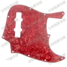 Red Pearl Celluloid & PVC 3-Ply  Bass Guitar Pickguard  Pickguard 10 Hole with Mounting screw(XX X 5 6 45)