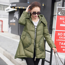 Nice Brand Abrigos Mujer Winter Coat Women Long Down Jacket Hooded Fur Collar Parka North Veste Plus Size Casaco 5 Color WD1152