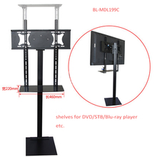 32-70 inch LCD LED Plasma TV Mount Floor Stand Tilt Swivel Monitor Holder AD Display With DVD Holder Height Adjustable