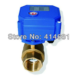 3/4 electric valve 2 port BSP, DC24V motorized valve 2/3 wires, DN20 eletric ball valve for heating,water control<br><br>Aliexpress