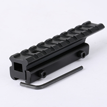 1Set Hunting Tactical Dovetail Extension 11mm to 20mm Weaver Picatinny Rifle Scope Rail Mount Base Adapter with 1Pc Allen Wrench