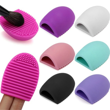 Colorful Silicone Makeup Brush Cleaning Washing Egg Comestic Brush Cleaner Glove Scrubber Board Makeup Brush Gel Washing Tool(China)