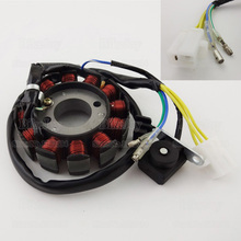 12 Poles GY6 Ignition Stator Magneto Coil DC For 125cc 150cc Moped Scooter ATV Quad Buggy Go Kart Motorcycle Motorbike(China)