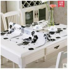 PVC waterproof cloth soft translucent glass plastic table cloth 1mm(China)