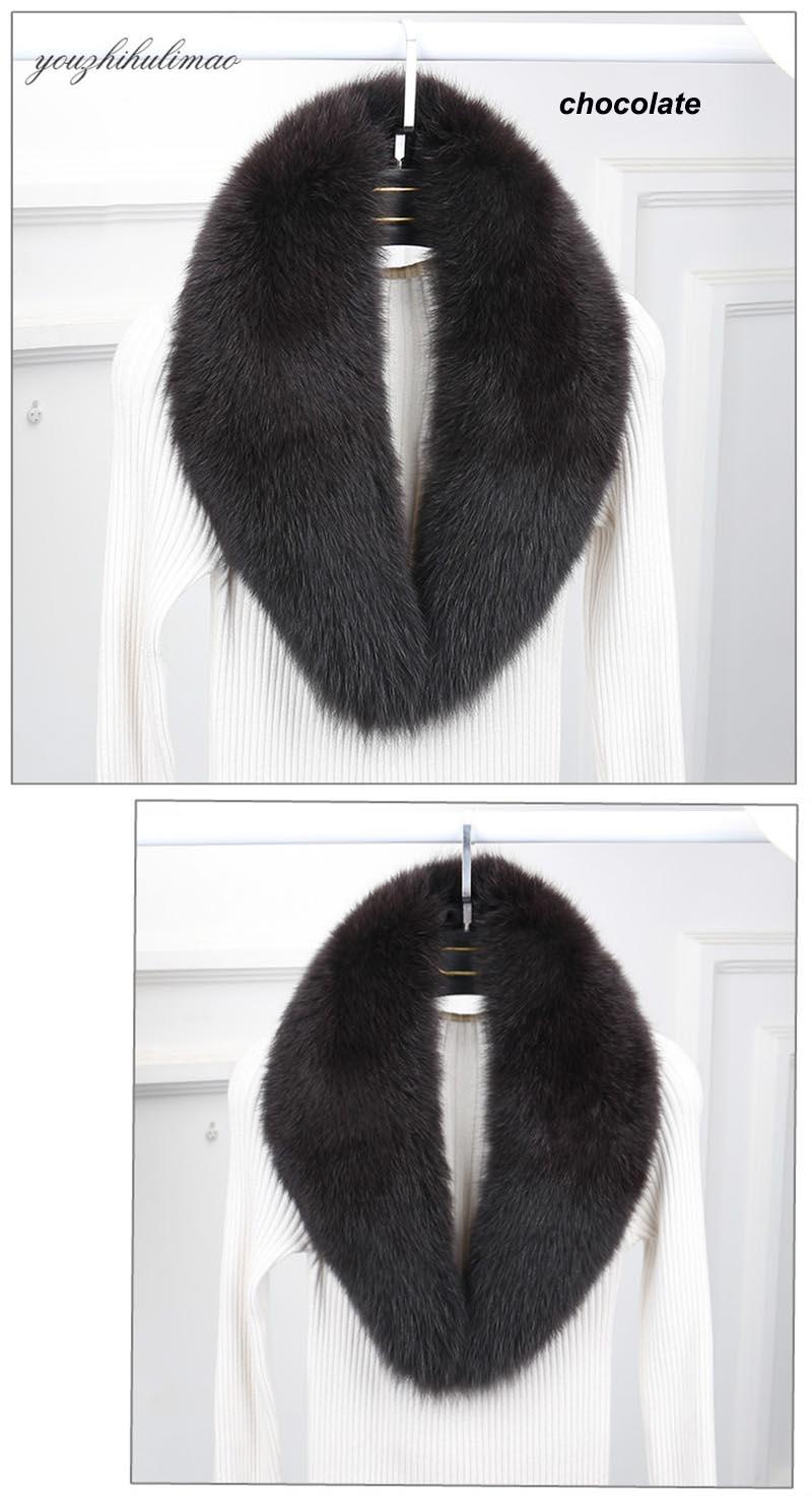 fox fur collar chocolate