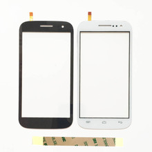 High Quality Atom Touch Screen Digitizer for Explay Atom Mobile Phone Sensor Touchscreen Front Glass Lens With Tape(China)