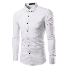 Buy White Polka Dot Shirt Men 2017 Brand New Mens Dress Shirts Casual Long Sleeve Slim Fit Chemise Homme Men Clothing Camisa Social for $10.58 in AliExpress store