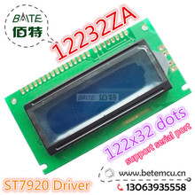 Free Shipping 1PCS 12232ZA 122x32 Dots Graphic Blue Color Backlight LCD Display module ST7920 Controller  New