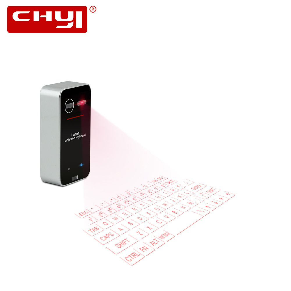 CHYI Bluetooth Wireless Laser Keyboard Virtual Projection Mini Keypads For Iphone Android Smart Phone Ipad Tablet Notebook