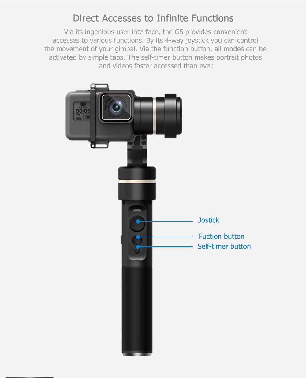 FeiyuTech Feiyu G5 Splash Proof waterproof 3-Axis Handheld Action Camera Gimbal For GoPro HERO 6 5 4 3 3+ Xiaomi yi 4k SJ AEE 15