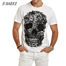 Buy E-BAIHUI mens t shirts fashion Skull 3d t shirt men Hip Hop Men T-shirt Casual tops tees Fitness Skate Swag marcelo burlon Y049 for $8.09 in AliExpress store