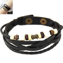 Buy Vintage Leather Bracelet Pulseira Couro Multilayer Bracelets & Bangles Jewelry Women Men Gift Wristband Pulseira Masculina for $1.45 in AliExpress store