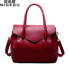 Buy NIGEDU Brand Luxury Women Handbags Designer PU Leather Crossbody Bag Fashion Female Messenger Bags Shoulder Bag Ladies Big Totes for $25.80 in AliExpress store
