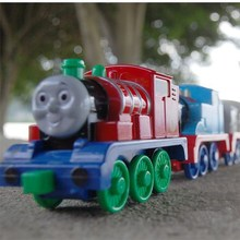 Free shipping All the rage Cartoon children toy car alloy light pull back Thomas and friends train toy for kids play game gift(China)
