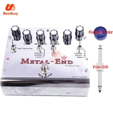 Biyang Tonefancier Metal End King Distortion Electric Guitar Effect Pedal True Bypass Brand New