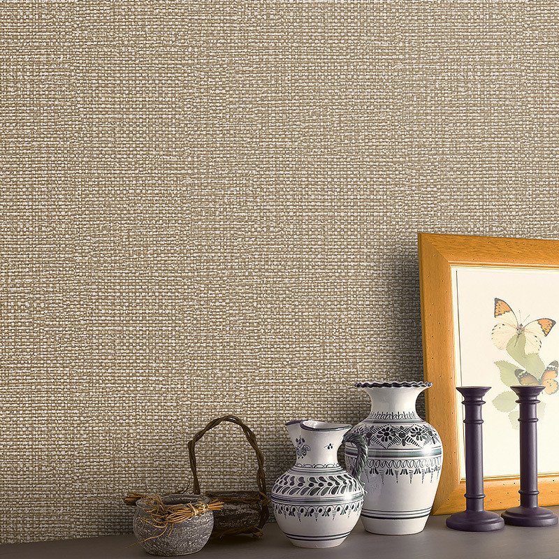 Beibehang New modern minimalist linen wallpaper living room TV backdrop non-woven decoration main wallpaper for walls 3 d<br>