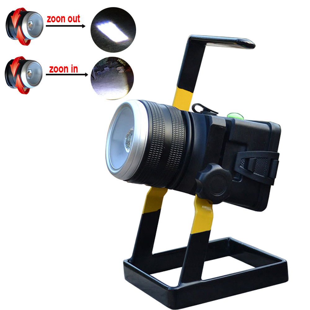 High Quality   30W 2400LM XML T6 LED Rechargeable Zoomable Flood Light 18650 Portable Spot Lamp<br><br>Aliexpress