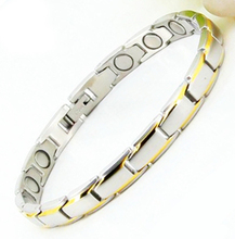 Free Ship Classic Magnetic Jewelry Bracelets & Bangles Energy Healing Stainless Men's Women's Bracelets Gold Filled Hand Chain