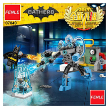 201pcs New Super Heroes Batman 07049 Mr. Freeze Ice Attack DIY Model Building Kit Blocks Movie Toys Compatible with Legoeing