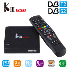 Buy MECOOL KIII Pro DVB S2 DVB T2 Android6.0 smart TV Box Amlogic S912 Octa core BT 4.0 3GB/16GB 2.4G/5G Wifi 4K Smart Media Player for $149.99 in AliExpress store