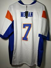 SexeMara Mens Blue Mountain State #7 Alex Moran American Football Jersey white Free Shipping