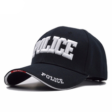 Wholesale Police Baseball Cap Men Tactical Cap Mens Baseball Caps Brand Snapback Trucker Hat For Man Women 100% cotton Material