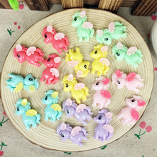10 Pieces Mixed Color Flatback Flat Back Kawaii Planar Resin Cabochon For Hair Bow Pony Horse DIY Decoration Crafts:21*30mm(China)