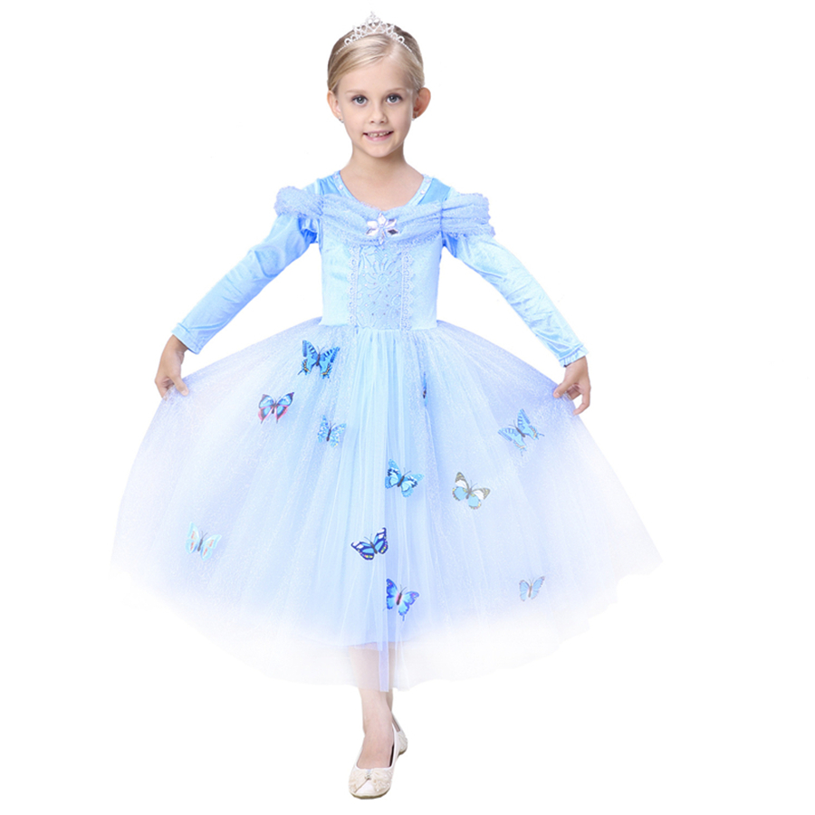 Children Dress Girl Princess Dress Elsa Anna Dress Costume For Kids High Quality Cotton Kids Princess Dresses For Girls 70C1144<br><br>Aliexpress