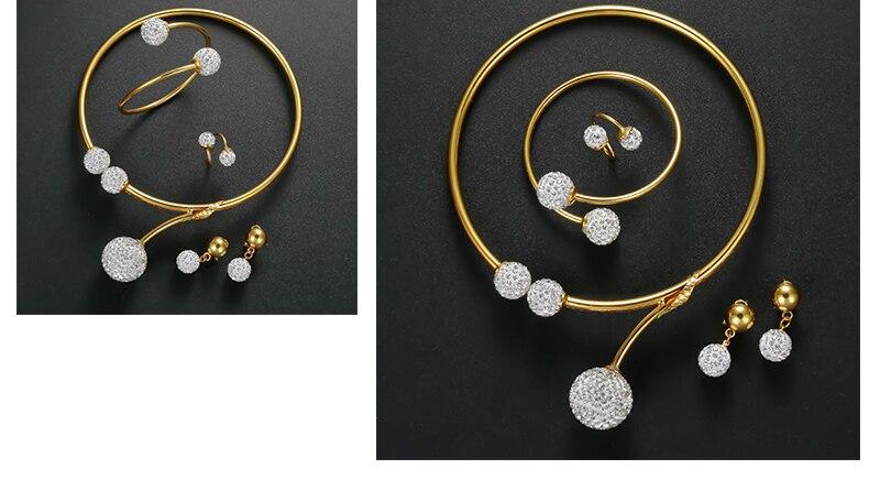 CWEEL African Beads Jewelry Set Dubai Bridal Jewelry Sets For Women Nigerian Wedding Jewelry Vintage Statement Necklace Set (5)