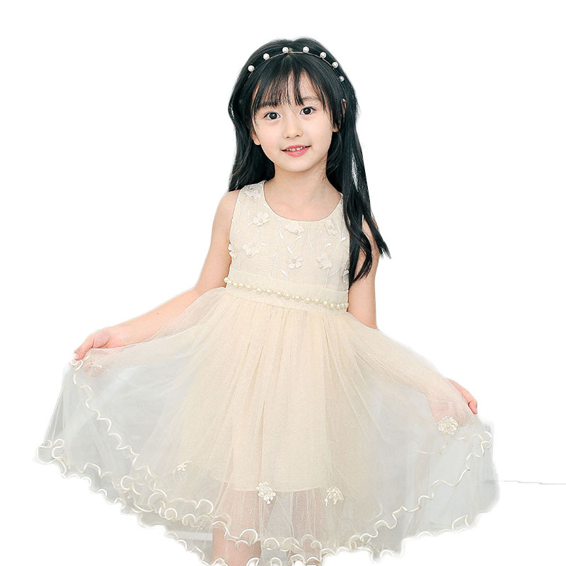 Kids Dresses For Girls 4- 8 Years 2017 New Design Flower Girl Dresses For Weddings Child Birthday Party Gown Embroidery Organza<br>
