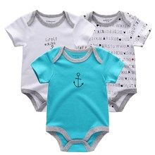3PCS Baby Costume Girl Clothes Summer 2018 Baby Boys Clothing Set Newborn Overall Boy Sayings Bodysuit ,Similar Style Bodysuits(China)