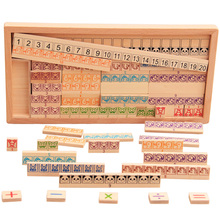 2016 New Arrival Kids Toys Montessori Wooden Educational Blocks Baby Early Learning Teaching Math Shapes Cognition Gift(China)