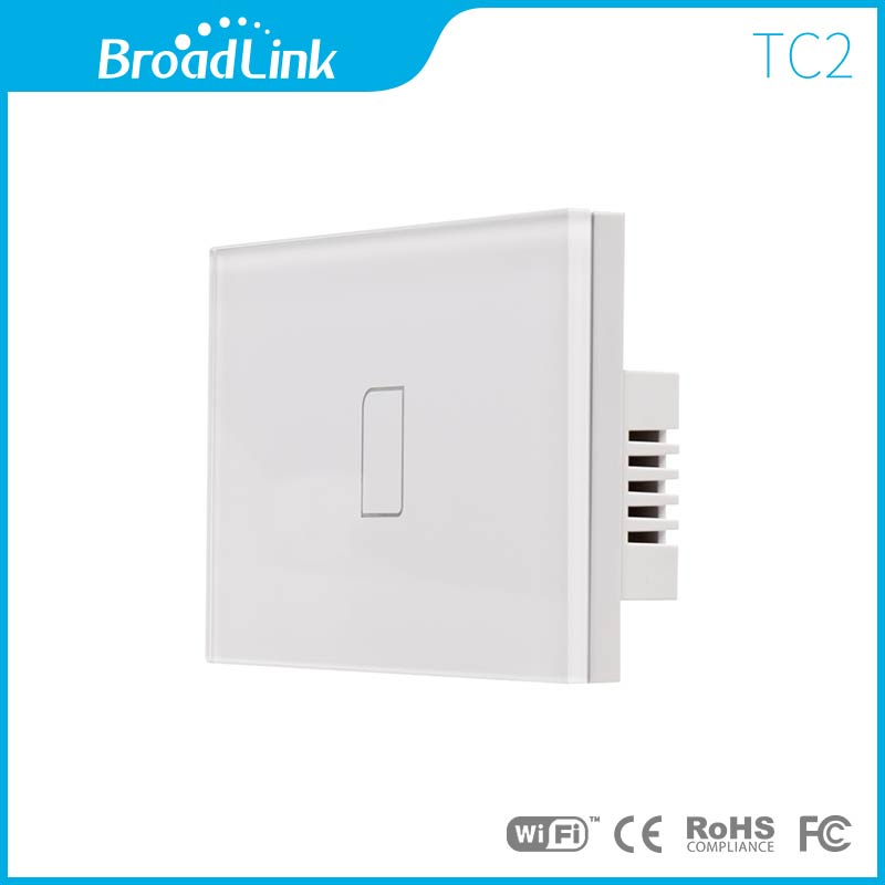 US standard BroadLink 433Mhz Smart home automation touch Wall Light Switch, glass panel,1 gang, WiFi control from smart phone<br><br>Aliexpress