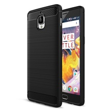 Mobile Covers for OnePlus 3/3T Cell Phone Bag Carbon Fibre Brushed TPU Phone Cases for OnePlus 3/3 T Shell -Hot Selling