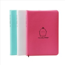 2017 Cute Kawaii Notebook Cartoon Molang Rabbit Journal Diary Planner Notepad for Kids Gift Korean Stationery(China)