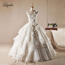 Glamorous Tulle Sweetheart Neckline Ball Gown Wedding Dress One Shoulder Sweep Train Ball Gown Bridal Dress