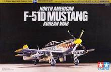 Tamiya assembled aircraft model 60754 1/72 North American F-51D Mustang fighter Korean battlefield