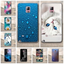 Soft TPU 3D Flower Case Cover For Samsung Galaxy Note4 Silicon Phone Back Skin Cover For Fundas Samsung Galaxy Note 4 N9100 Capa(China)
