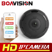 V380 HD 1920*1080P VR WIFI IP Camera 2MP,Support Max 128G TF Card,P2P,Two-Way Audio IR 360 Degree IP CAM WI-FI P2P