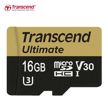 Transcend Memory card 16GB UHS-I U3 Read up to 95MB/s MLC microSDHC Video Speed Class V30 for 4K 3D Full HD video micro sd card