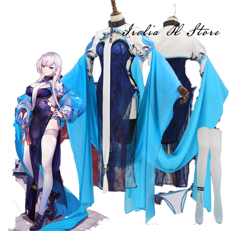 Belfast Azur Lane Cosplay Costume Lunar cheongsam Belfast cosplay costume sexy costume can custom made