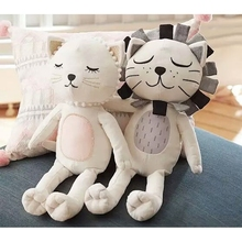 Kids Stuffed Toys Girls Boys Lion Cat Dolls Children Room Decorative Pillow Cushion Baby Photography Props almohadilla