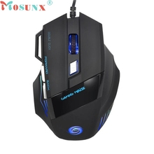 mosunx Mecall Tech 5500 DPI 7D LED Optical USB Wired Gaming PRO Mouse Mice For PC Laptop wholesale No02