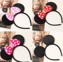 Children's day evening black ear hair Mickey Mouse head hoop Hair Bow Headband decorated Mickey Minnie