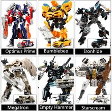 Brand New Super Hero 27cm Gift Box Transformation Robot Model Action Figure Movie Robot Car Fighter Transformable Toys 6 Types(China)