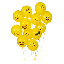 "10 PCS 12"" Emoji Latex Balloons hot Expression ballon Wedding Birthday party supplies smile latex globos WeChat Smile balls"