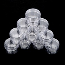 10Pcs 5g Cosmetic Empty Jar Pot Eyeshadow Makeup Face Cream Container Bottle Acrylic for Creams Skin Care Products makeup tool(China)