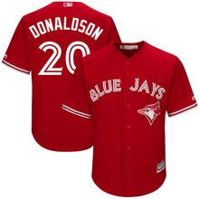 MLB Youth Toronto Blue Jays Josh Donaldson Baseball Alternate Scarlet Official Cool Base Replica Player Jersey