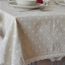 Fudiya Floral Table Cloth Country Style Nappes De Table Flax Table Covers Europe Dining Table Corredor Da Tabela Mesa