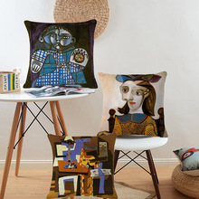 Classic European Style Cushion Cover Famous Painter Picasso Pillow Case Square Waist Home Car Sofa Throw Pillows Covers